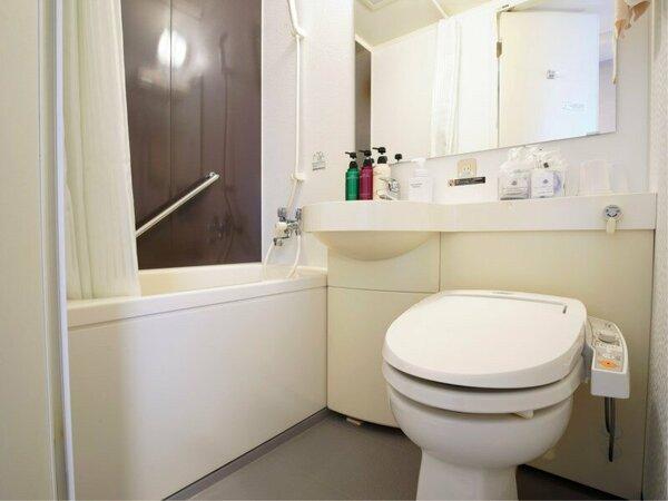 全客室ユニットバス・温水洗浄便座を完備。