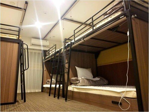 【グループ・ファミリールーム】 2段ベッド×3台/定員6名