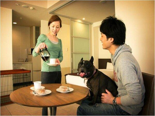ゲストの一員である愛犬にも最上のくつろぎを(ドッグフレンドリー)