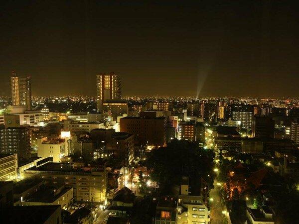 客室からは夜景はホテル1番のオススメです!!