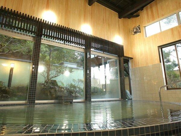 *[大浴場一例]2018年12月!加水・加温・ろ過なしの源泉かけ流しの湯をお楽しみください。
