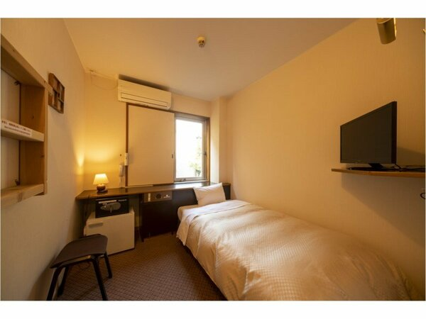 シングルルーム。宮島でも珍しいタイプのお部屋。おひとりさまも大歓迎です!
