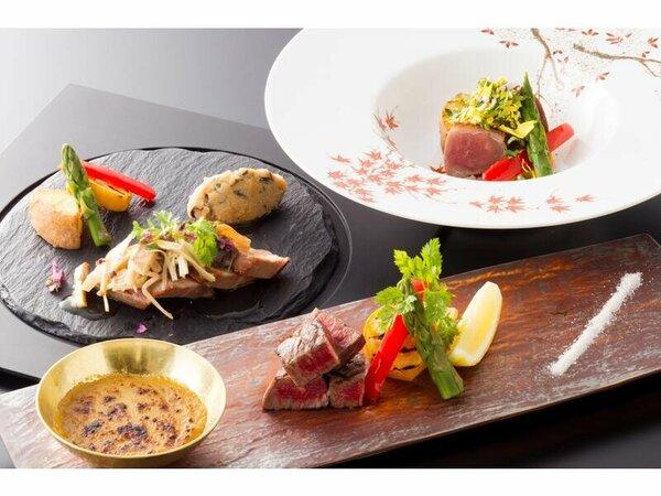 料理の一例(イメージ)肉料理3品(牛ヒレ、月替わり2品)より当日1品チョイスできます。