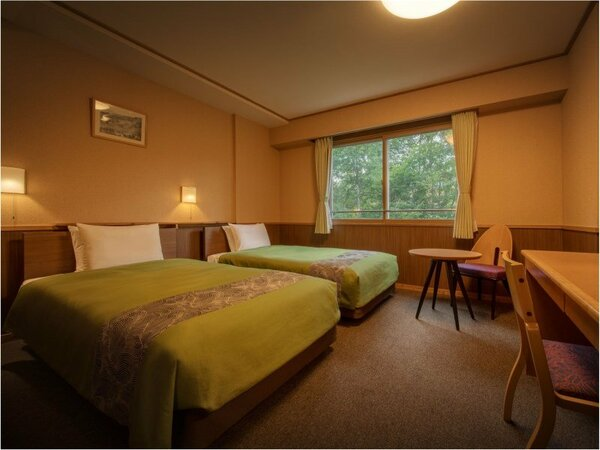 秋田の森をイメージしたツインルーム