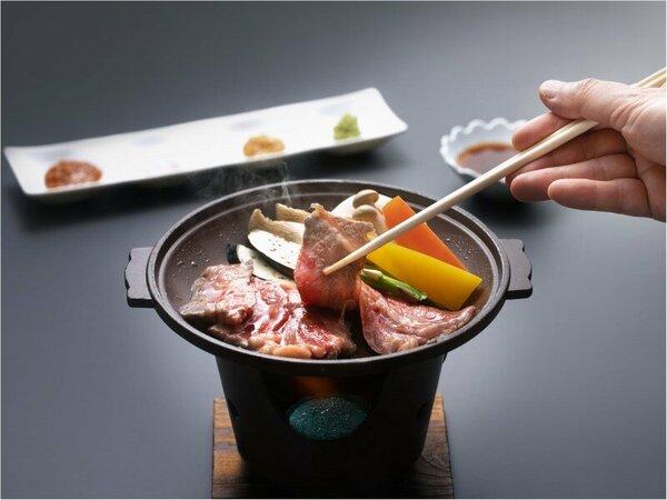 秋田錦牛サーロインと季節の野菜焼き陶板焼き