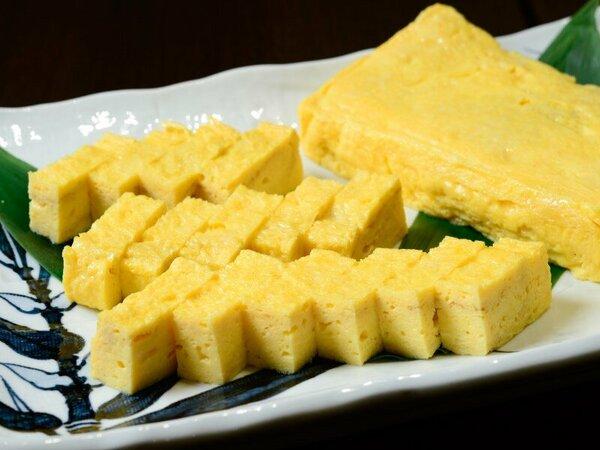 朝食は手作りの厚焼き玉子が人気!