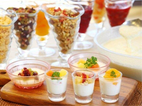 朝食のジャージーヨーグルト&ミルクBAR