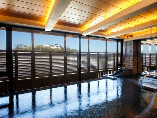 【津山温泉・城見SPA】鶴山公園を臨む八階の展望露天風呂