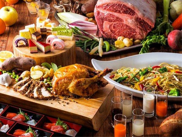 【夕食ブッフェ・一例】春食材をふんだんに使ったお料理をお楽しみください。