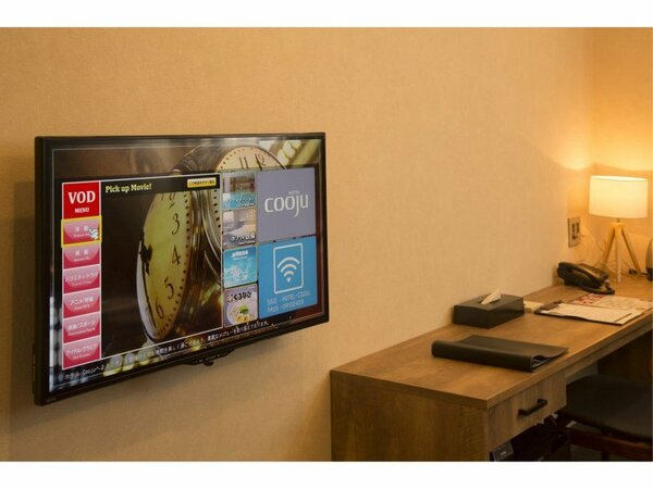 【TV】大画面の液晶TVを完備。VODも無料でご覧頂けます。