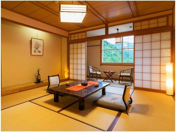"""■和室10畳■お部屋から景色をお楽しみいただけない分、""""お得""""になっております♪"""