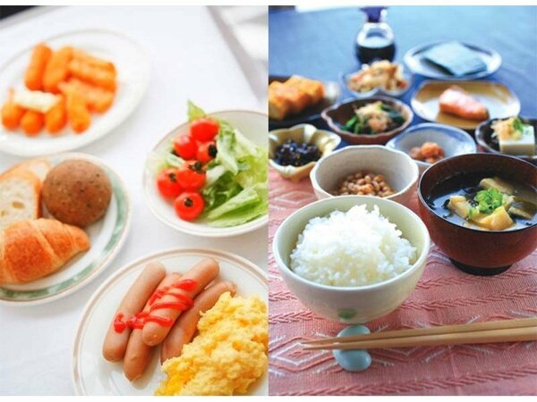 バイキング朝食 営業時間 6:45から9:00 様々な朝食のスタイルに合った温かい料理を提供致します