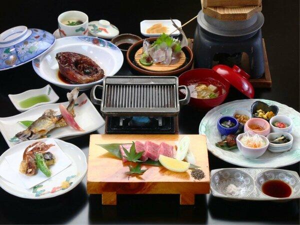 【飛騨牛料理指定店】グレードアップ全体の一例