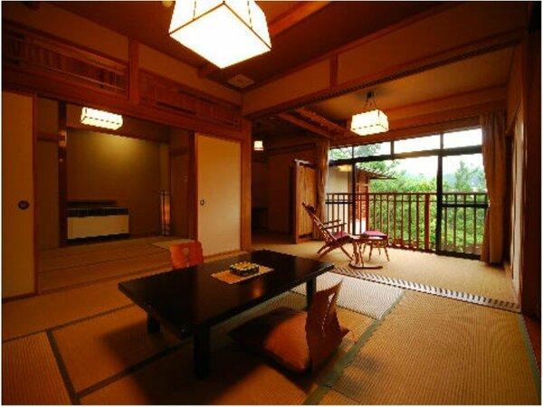 露天風呂付き客室「万楽」 2階