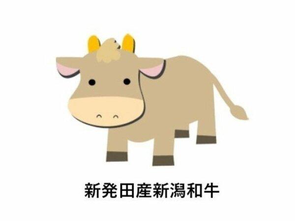 新発田産新潟和牛。「和室(月楽庵)」タイプにてお召し上がりいただけます