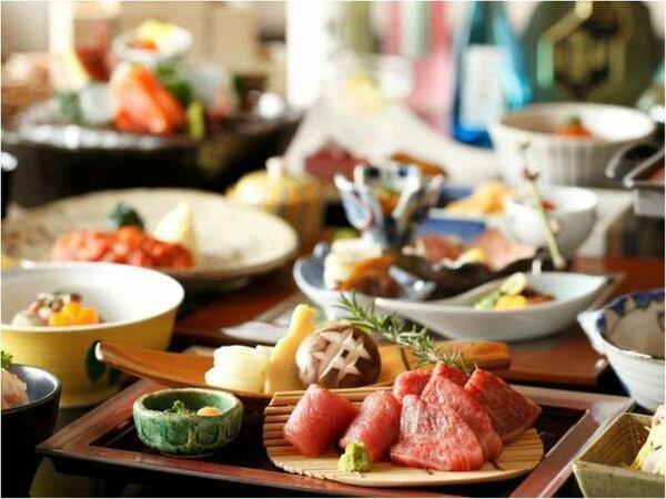 お夕食の一例 「山彦」「海彦」からコースをお選び下さい。