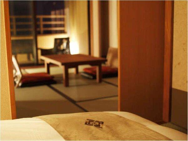 居室と寝室は別々で、和にこだわった癒しの空間