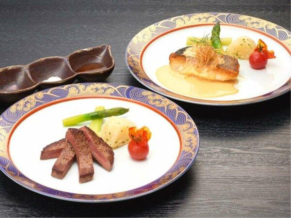 メインのお料理はお肉かお魚お好きな方を当日お選びいただけます♪