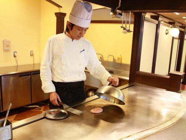 メイン料理は、こちらでシェフがお作りいたします。