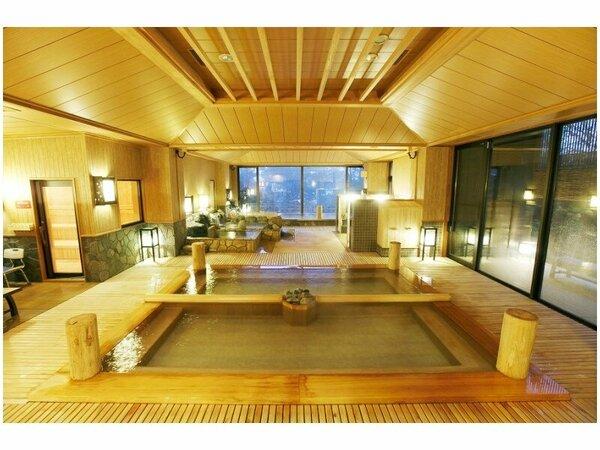 【季の湯】湯畑をイメージした大浴場