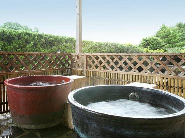 男性専用陶器露天風呂