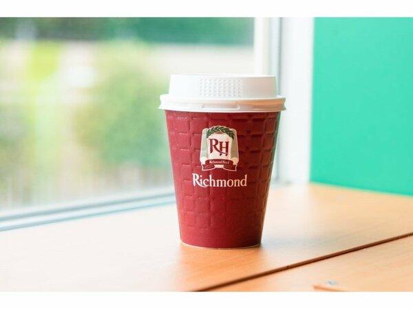 朝食会場にて無料テイクアウトコーヒーをご用意しております。