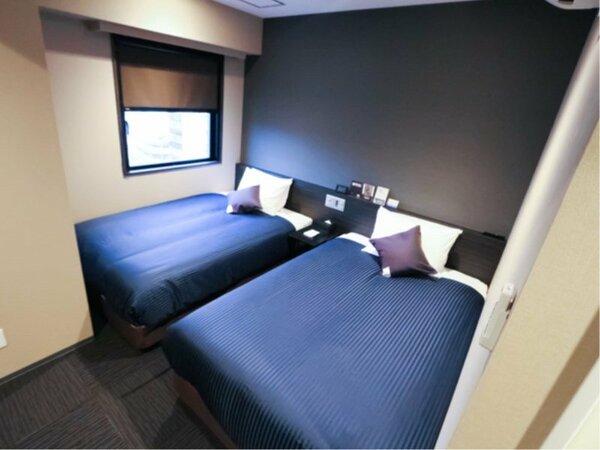 ◆ツインルーム◆全室4K対応テレビ・シモンズ製ベッドを導入しております。