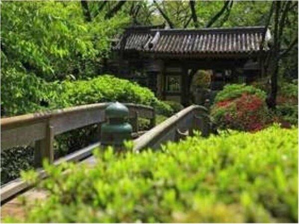 日本庭園 山門