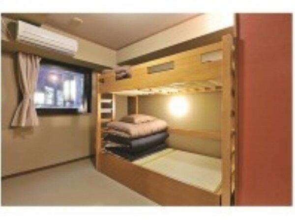 ツインルーム 二段ベッド 共用バスルーム