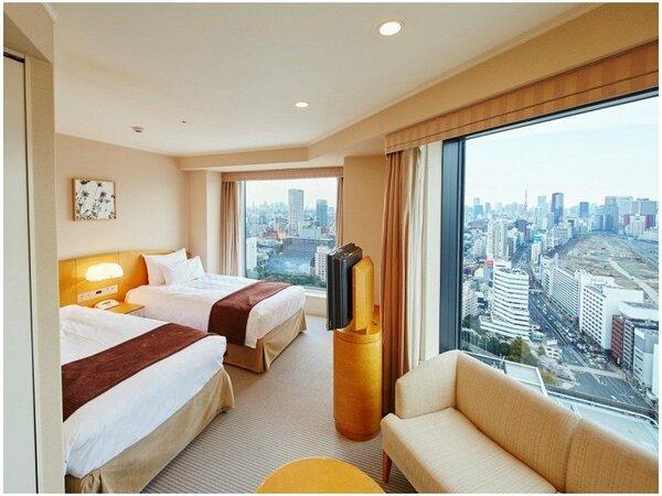 【メインタワー】コーナーツインルーム(28~34F)客室一例