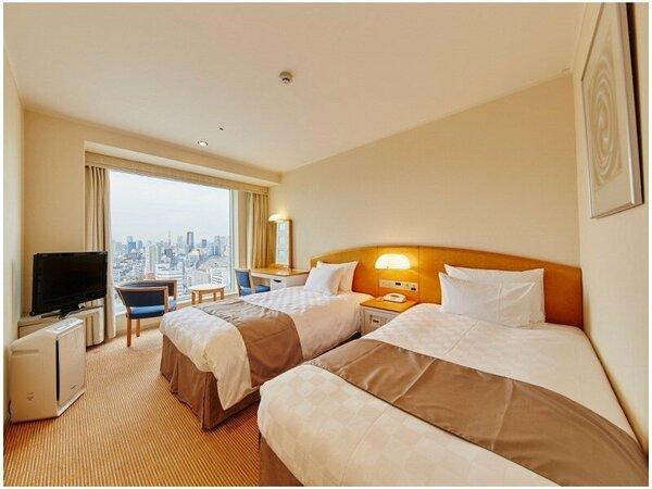 【メインタワー】ツインルーム(17~27F)客室一例