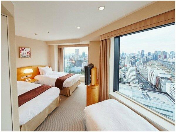 【メインタワー】高層階コーナーツインルーム ~3名 客室一例