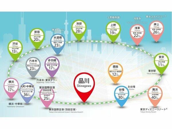 アクセスマップ☆品川駅は便利な8路線