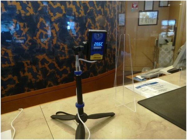 感染拡大予防(一例) 検温器の設置