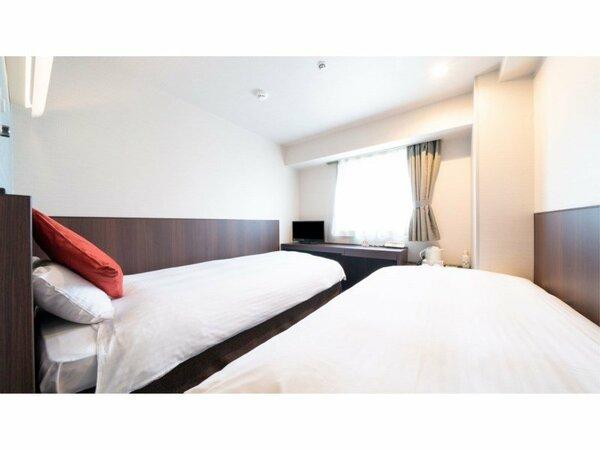 シングルツイン(2名様利用)、1名様でご利用の場合はベッドが1台になります。