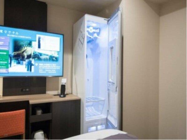 業界初の全室完備「LG スタイラー」。衣服のしわやニオイをリフレッシュ。