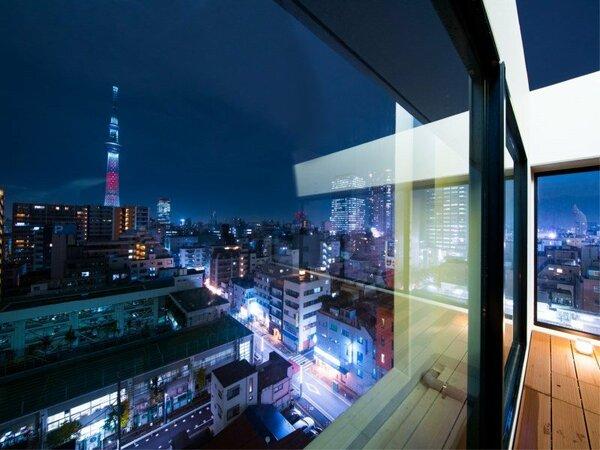 10階テラスからの夜景