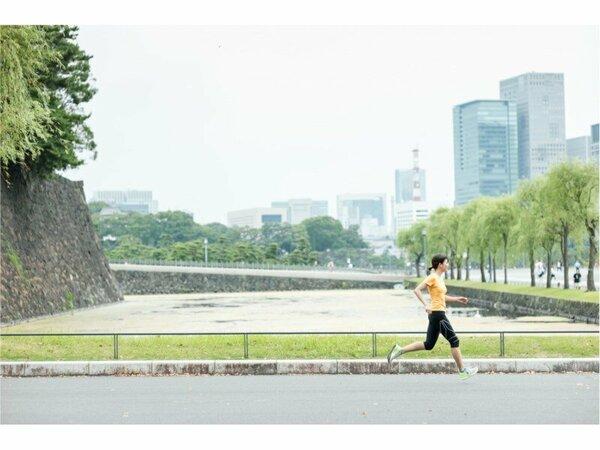 江戸・東京の名所を眺めながら優雅なランニングを楽しめます