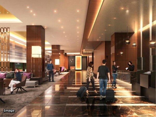 ホテル / 天高4.5mの開放的なロビー