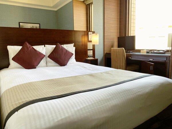 【スタンダードダブル】16平米ベッド幅150cm 上品な雰囲気でまとめられたお部屋。