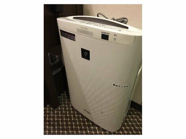 加湿機能付き空気清浄機:【客室設備】