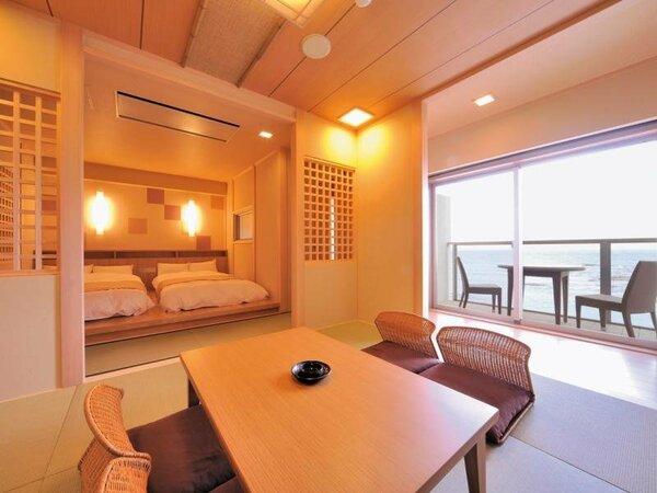 西館5階(ジャパニーズ)和室6畳+小上がりツイン オーシャンビューバルコニー付