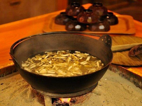 舞茸の味噌汁は毎朝7時から