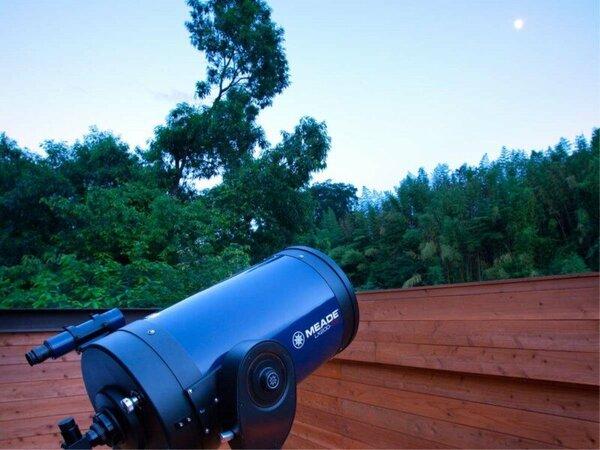 【星空観察会】お天気が良い日は毎日行っております。星や月、木星や土星などを見ることができます
