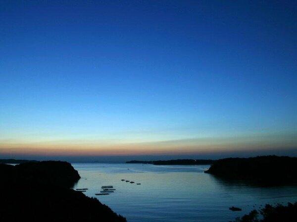 的矢湾の夜明け