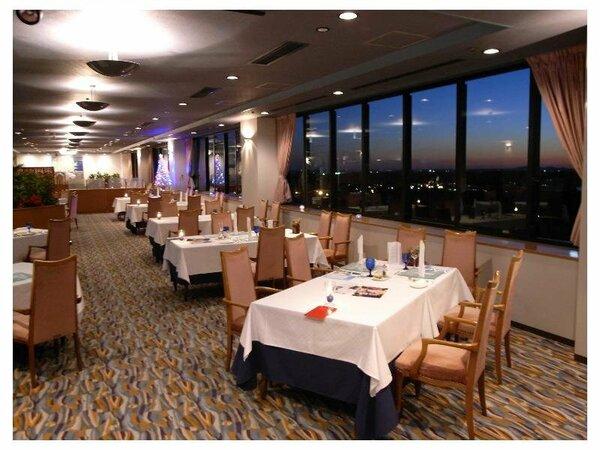 【シービュー】ホテル自慢の12階スカイレストラン♪本格フレンチをお召し上がりいただけます♪