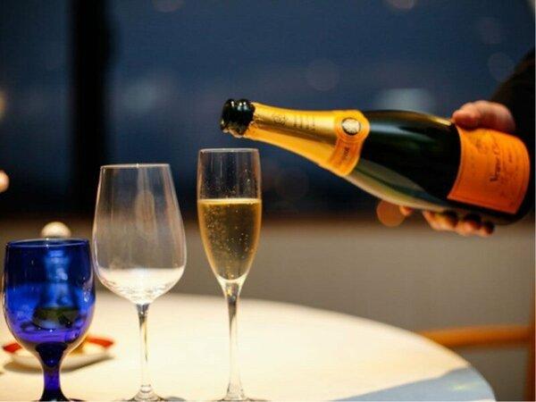 【レストラン】フレンチコースとともにワインもお楽しみいただけます♪(写真はイメージです)