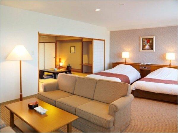 【スイートルーム】お部屋はゆったり72平米♪洋間と和室8畳の間取りで優雅なひとときをお過ごしください!