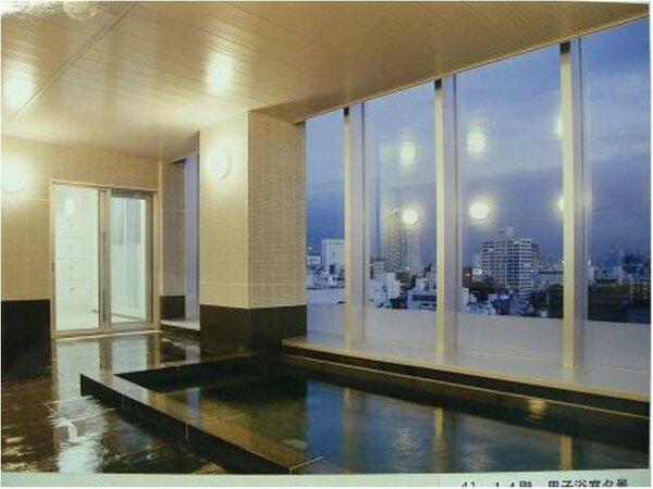 市内を一望できる男女別の展望大浴場が最上階にございます。ゆっくりとお疲れを癒してください。