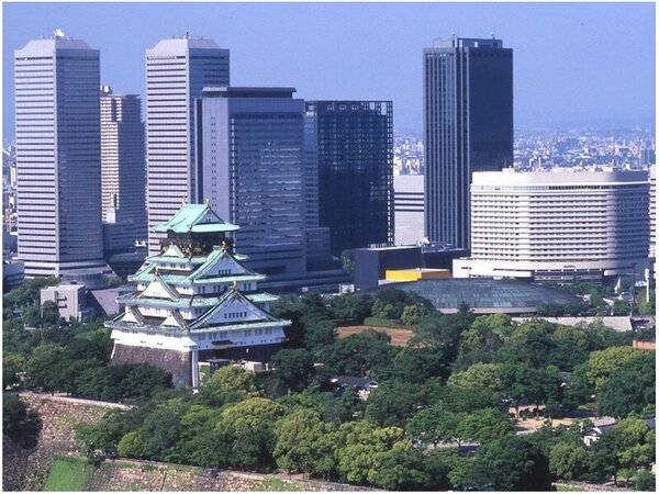 大阪城と外観